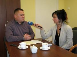 Na zdjęciu: Renata Reda rozmawia z Maciejem Szczęsnowiczem