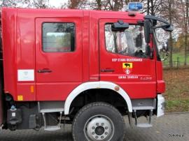 Na zdjęciu wóz strażacki