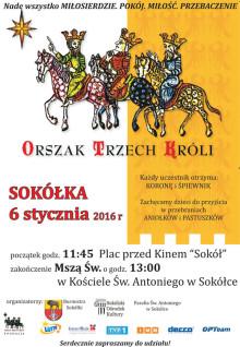 Plakat orszak 3 Króli
