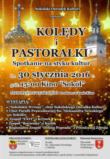 Plakat - kolędy i pastorałki