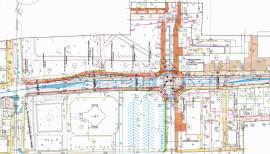 Plan zagospodarowania skrzyżowania