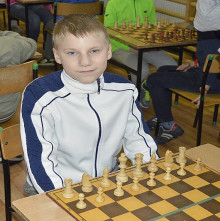 Norbert Kopeć przy szachownicy