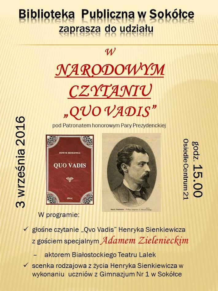 Narodowe Czytanie Quo Vadis