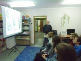 Marian Biziuk w czasie prezentacji