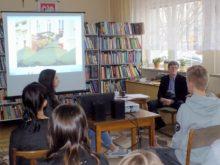 J.K. Piasecki na spotkaniu w bibliotece