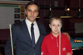 Karol z trenerem Lechem Piekarskim