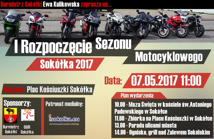 Rozpoczęcie sezonu motocyklowego w Sokółce