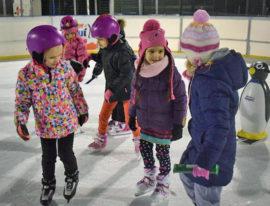 Przedszkolaki na lodowisku