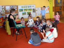 Krystyna Gudel z dziećmi
