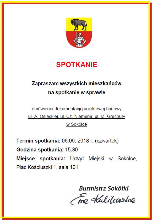 Plakat informujący o spotkaniu
