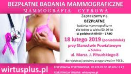 Mammografia 18 lutego 2019 r.