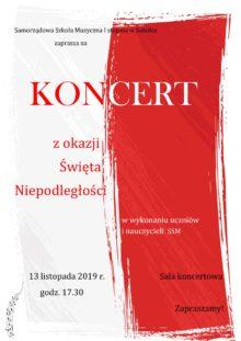 Plakat z informacja o koncercie