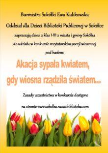 Plakt z informacją o konkursie