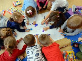 Na zdjęciu dzieci w Przedszkolu nr 4 w Sokółce
