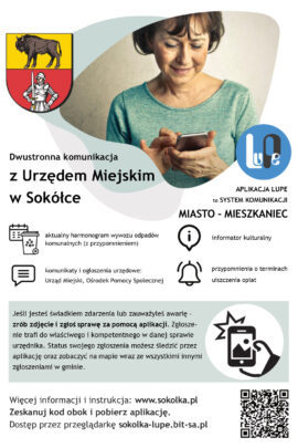 Plakat - informacja o systemie LUPE