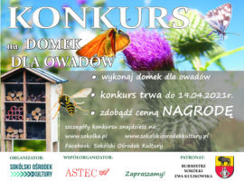 Plakat z informacją o konkursie